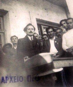 Ο Αρχισυντάκτης Του «Δημοκράτη» Γ. Λέρνης Μιλά Στους Μεταλλωρύχους Του Μαυροβουνιού (Αρχείο Πεο)