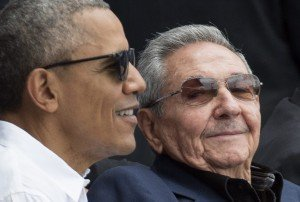US President Obama at baseball friendly game in Cuba