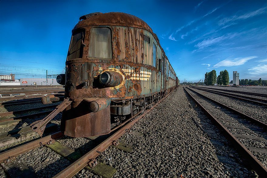 208071 Abandoned Orient Express Train Urban Exploration Brian Belgium 8