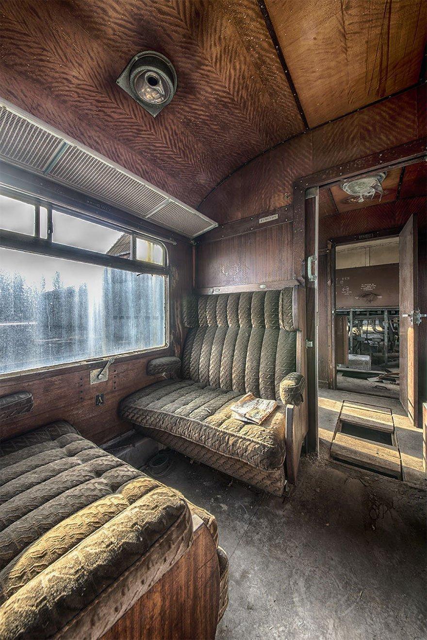 208071G Abandoned Orient Express Train Urban Exploration Brian Belgium 2