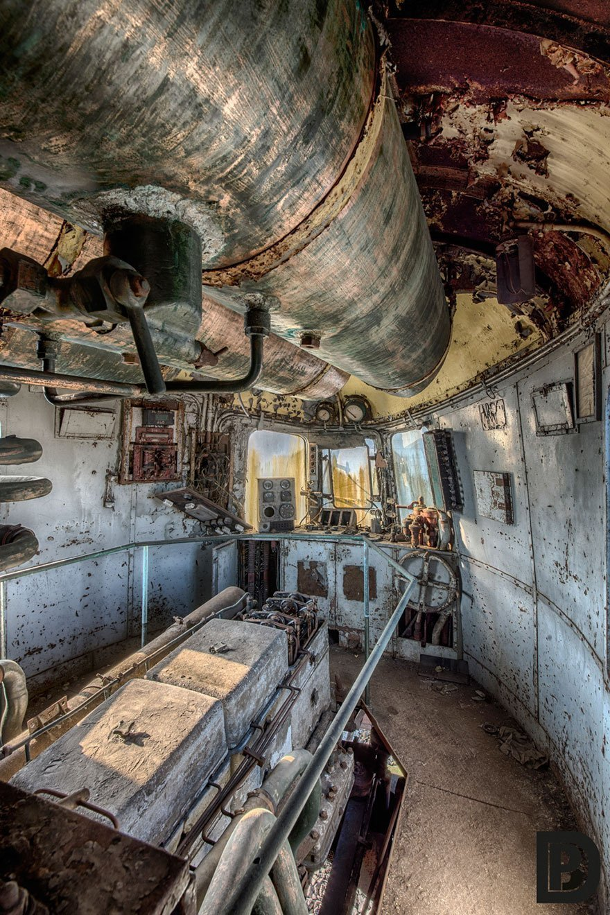 208071G Abandoned Orient Express Train Urban Exploration Brian Belgium 5
