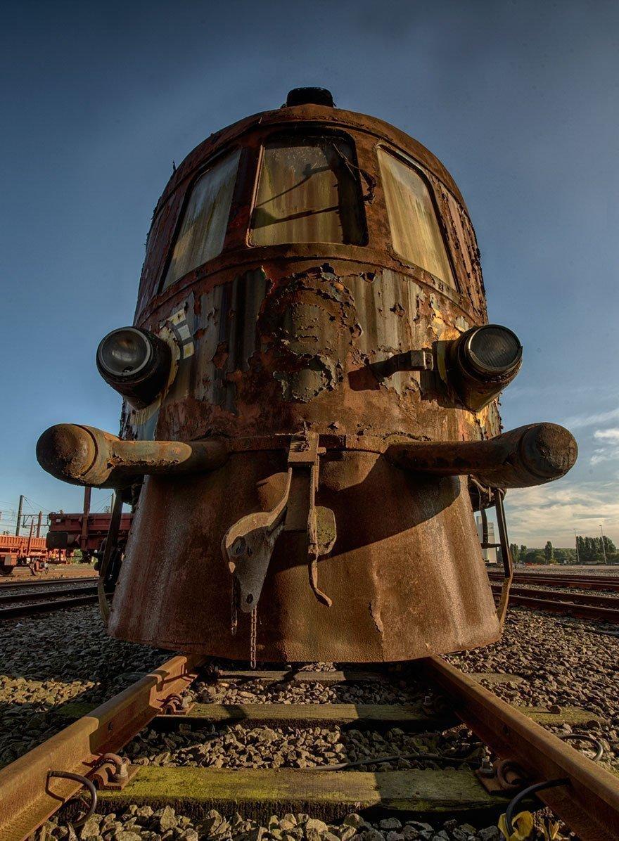 208071G Abandoned Orient Express Train Urban Exploration Brian Belgium 7