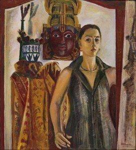Μαριάμ-Σουχάνοβα-Φουκαρά_Αυτοπροσωπογραφία-με-μάσκα_2001-
