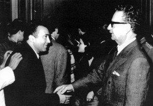 (1971) Με τον πρόεδρο της Χιλής Σαλβαδόρ Αλιέντε