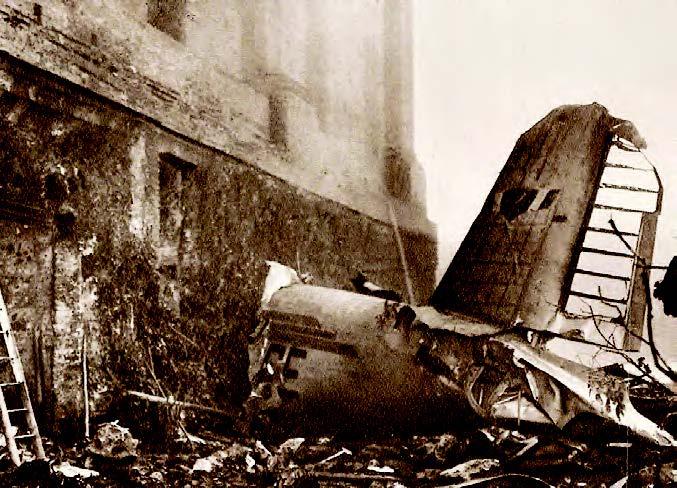 Το αεροπλάνο που μετέφερε τη «Μεγάλη Τορίνο» σφηνώθηκε στον τοίχο της Βασιλικής της Σουμπέργκα.