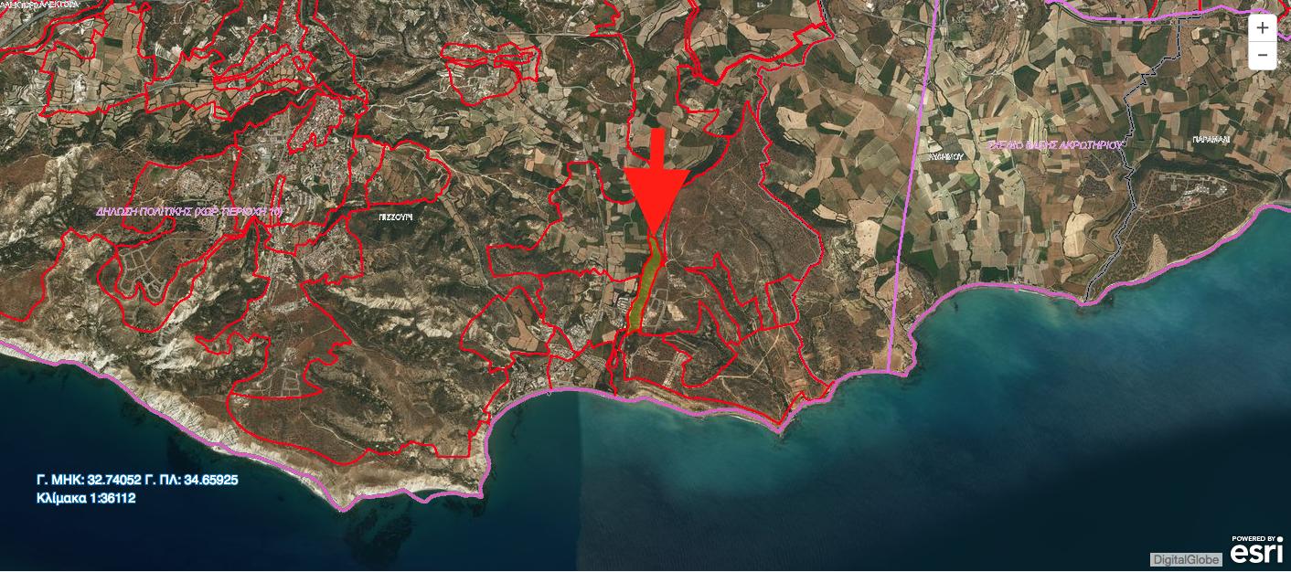 Φιλέτο 83,600 τ.μ. στο Πισσούρι. Βρίσκεται σε Ζώνη Δημοσίων και άλλων Αστικών/Κοινοτικών Χρήσεων