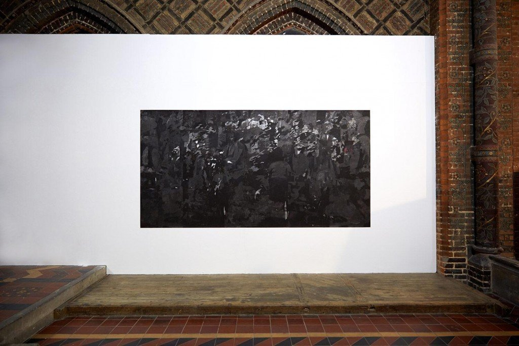 """Αναστασία Μηνά, """"Untitled VII"""". Graphite On Pigment Print, 152x310cm, 2017"""