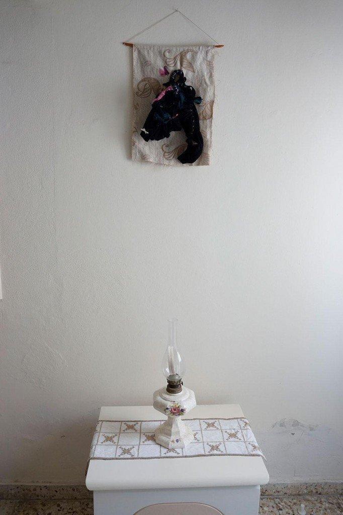 Αλεξάνδρα Πάμπουκα, Untitled, Fabric and wood, 50x35x10 cm, 2017