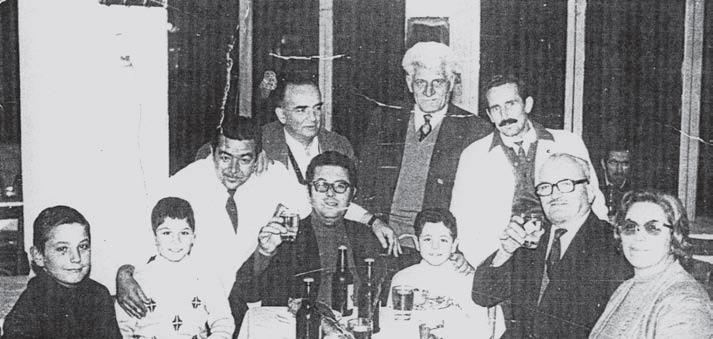 Χριστούγεννα 1974. Επίσκεψη στον Πύργο του πατέρα του Μιχάλη και Πέτρου Μιχαήλ.