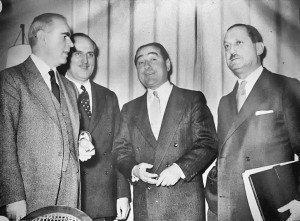 Πανευτυχείς Μετά Την Υπογραφή Κ. Καραμανλής, Αντνάν Μεντερές, Ευ. Αβέρωφ, Φατίν Ζορλού.