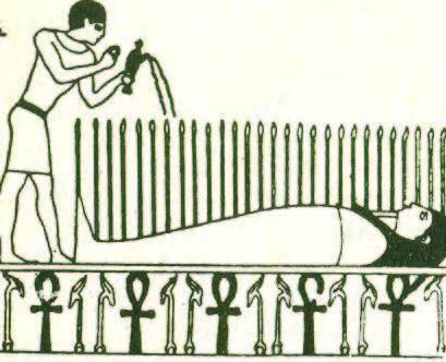 Ο νεκρός Όσιρις. Το σύμβολο του σταυρού ήταν διαδεδομένο πριν το χριστιανισμό.