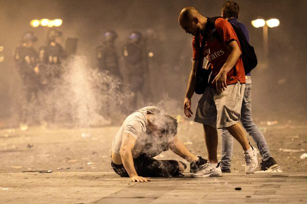 Fans-Celebrate-The-Outcome-Of-The-World-Cup-Final-Between-France-And-Croatia