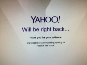«Έπεσε» το Yahoo – Προβλήματα για εκατομμύρια χρήστες