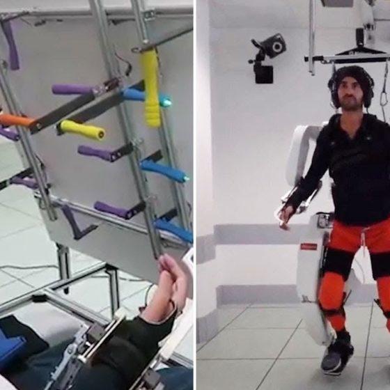 Παράλυτος ξαναπερπατά χάρη σε ρομποτικό εξωσκελετό – Τον ελέγχει με τη σκέψη – Βίντεο