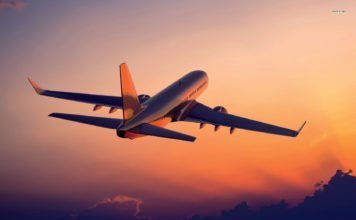 22137 airplane in the sunset 1680x1050 aircraft wallpaper1